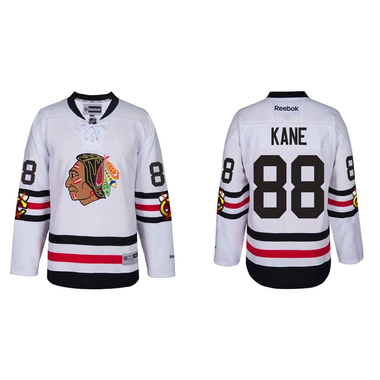 0ddafaab835 Amazon.com : Reebok Chicago Blackhawks Adult Patrick Kane 2017 Winter  Classic Premier Jersey - Team Color #88, : Clothing