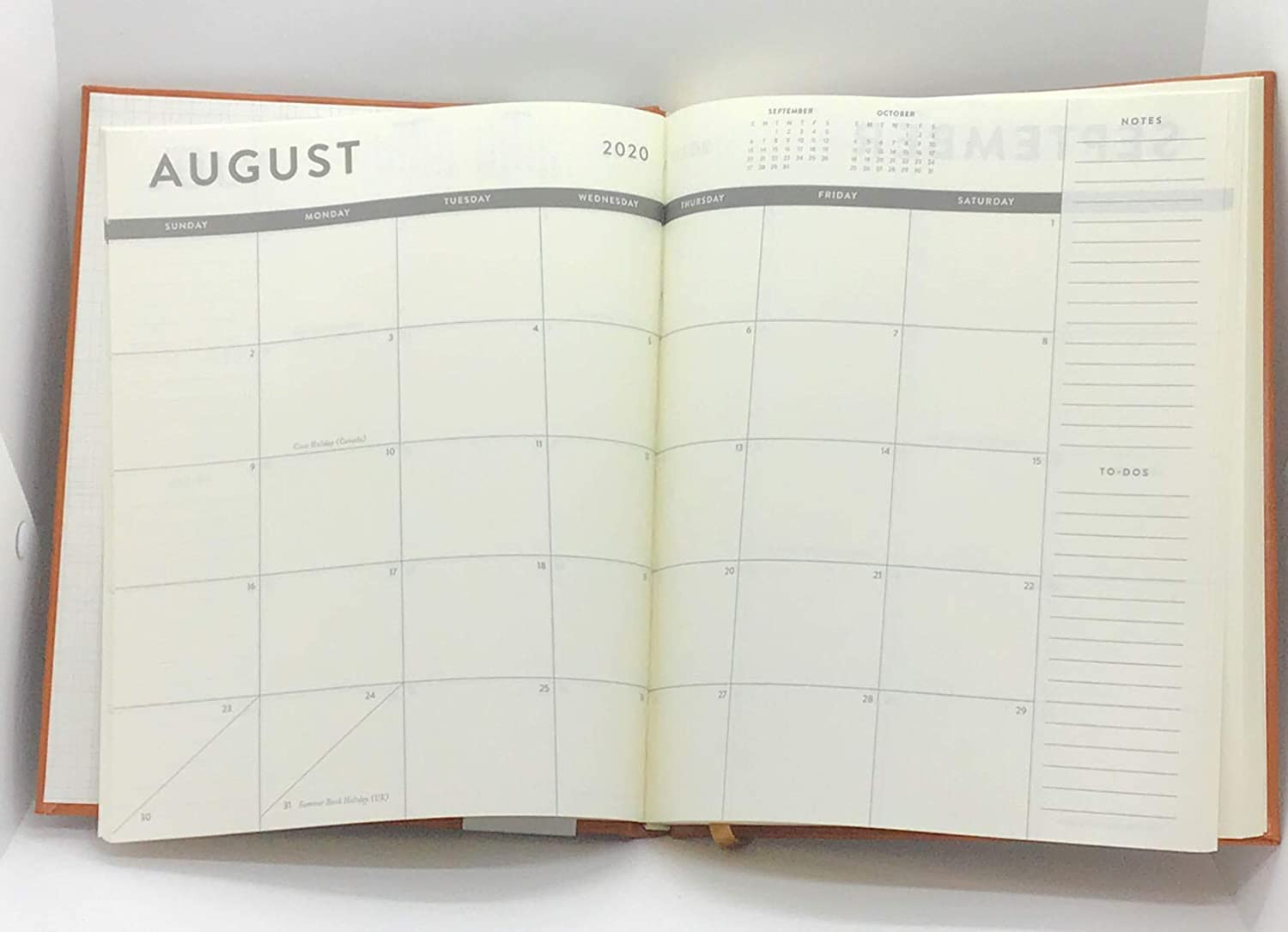 July 2019-December 2020 Eccolo Large Hardcover Agenda Planner, Monthly & Weekly Views, 8 x 10