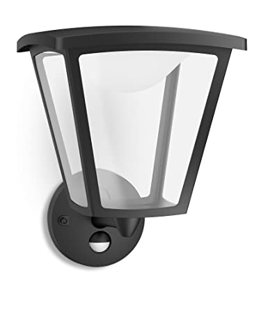 Philips myGarden Cottage - Aplique para exteriores LED, con sensor de movimiento, luz blanca