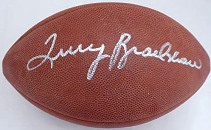 87ff57e6b7a Terry Bradshaw Signed Wilson NFL Leather Football Pittsburgh Steelers  (Flat) Memorabilia - Beckett Authentic