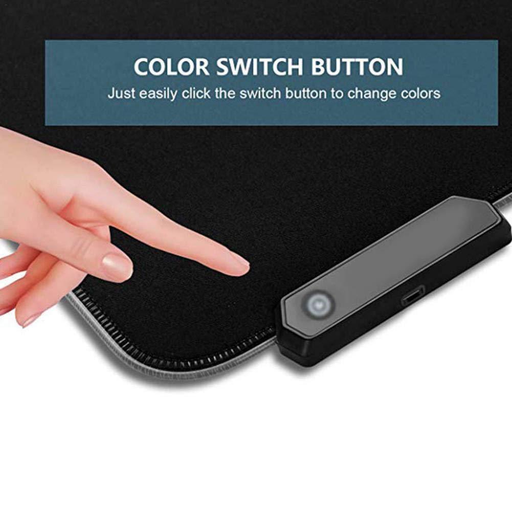Non-Slip di Grandi Dimensioni e incandescente Tappetino per Tastiera ckground Tappetino per Mouse RGB Soft Gaming Tappetino per Mouse Grande 78 30cm