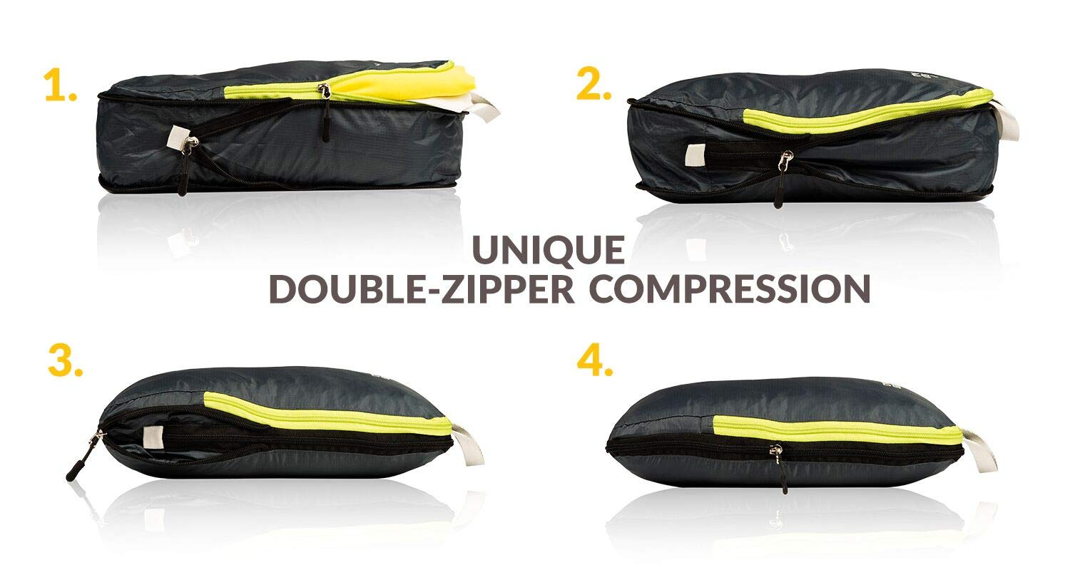 c2fcaf2db3 Amazon.com | Compression Packing Cubes Set of 3, Ultralight Travel  Organizer Bags and Luggage Strap | Packing Organizers