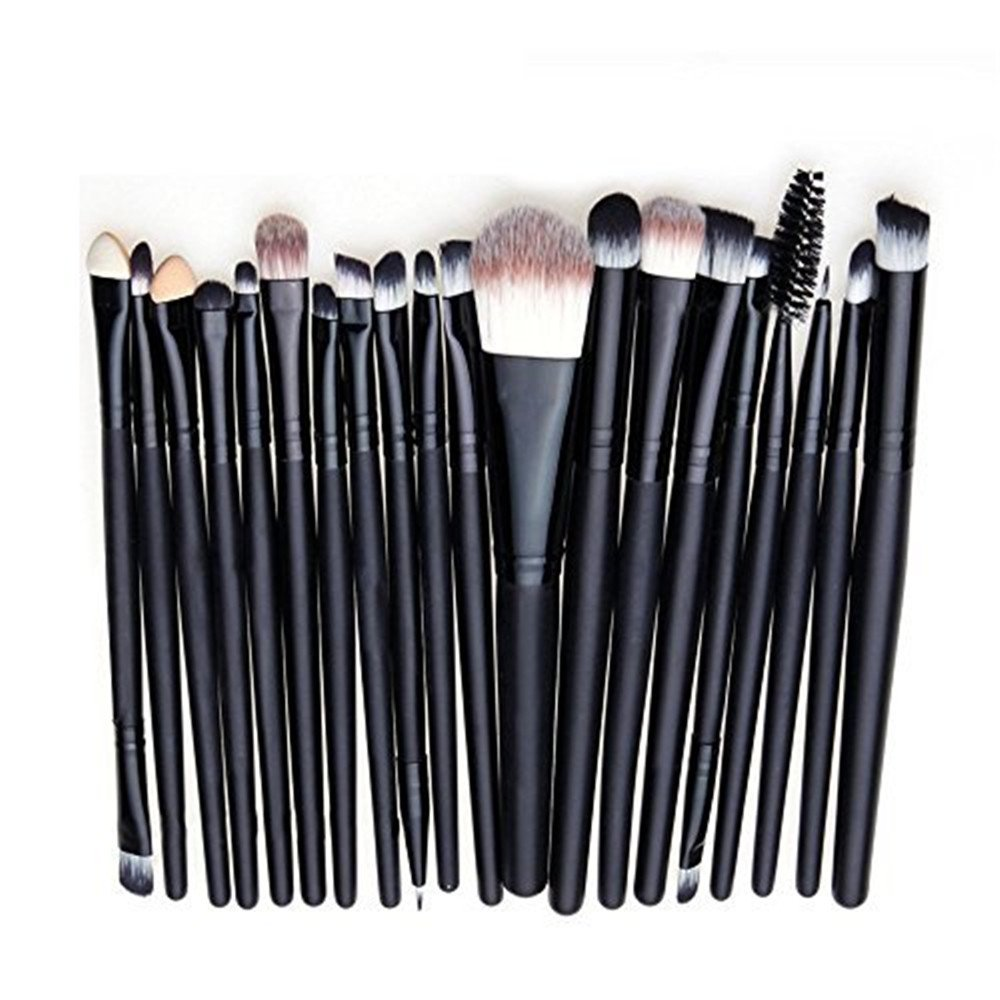 20PCS Makeup Brush Kit Eyebrow Blush Eyeshadow Eyeliner Lip Face Foundation Make up Brushes Qiqilei