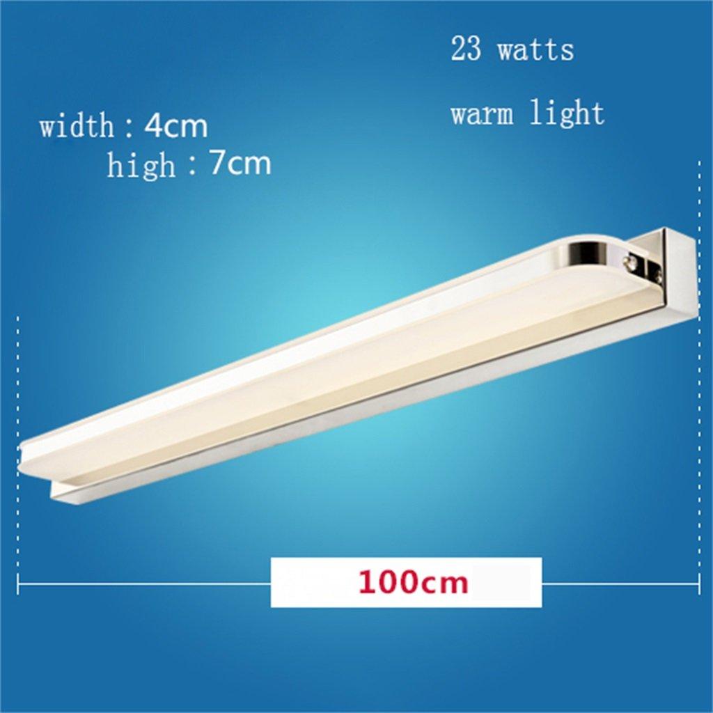 Warmes Licht-100cm Spiegelfrontlicht Spiegel vorne Lichter Led Badezimmer Wandleuchte Spiegelleuchten Make-up Lichter Einfache moderne wasserdichte Anti-Nebel-Beleuchtung Wandlampe (Farbe   Weißes Licht-45 cm)