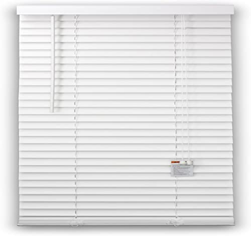 DEZ FURNISHINGS 29119-2 Inch Faux Wood Blind, White – 34 W X 36 L