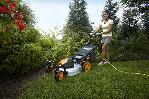 WORX WG719 13 Amp Caster Wheeled Electric Lawn Mower, 19-Inch by Worx (Image #1)