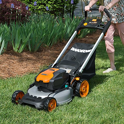 Worx WG744 17-inch 40V (4.0Ah) Cordless Lawn Mower, 2 Batteries and Charger Included
