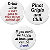 Set 3 Drinking Funny Humor Themed 2.25