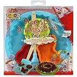 Coffret Cadeau Mon set à patisserie silicone 6 pcs pour enfant Moule emporte pièces et ustensiles