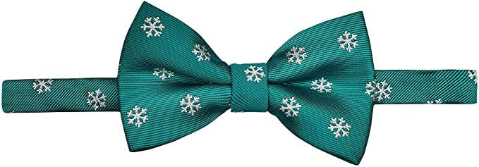 Retreez Christmas Tree Pattern Woven Pre-tied Bow Tie Various Colors 4.5
