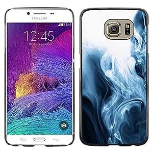 iKiki Tech / Estuche rígido - Fog Black White Mesmerizing Fluid - Samsung Galaxy S6 SM-G920