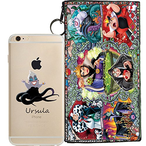 Disney Villains Evil Witch, Ursula, Maleficent Jelly Clear Case for Apple iPhone 7 (includes 8