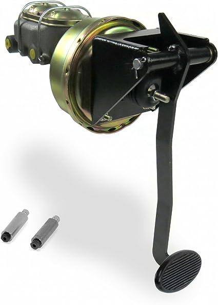 "Helix 321144 Universal FW 8/"" Single Brake Pedal kit Disk//Drum~Sm Oval Blk Pad"