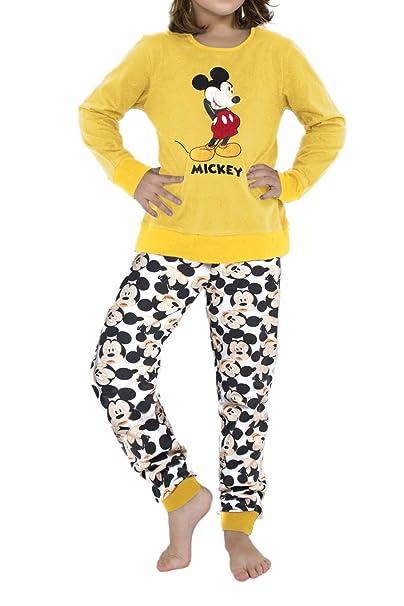 3a4376e76 Disney Pijama Manga Larga Mickey para Niña  Amazon.es  Ropa y accesorios