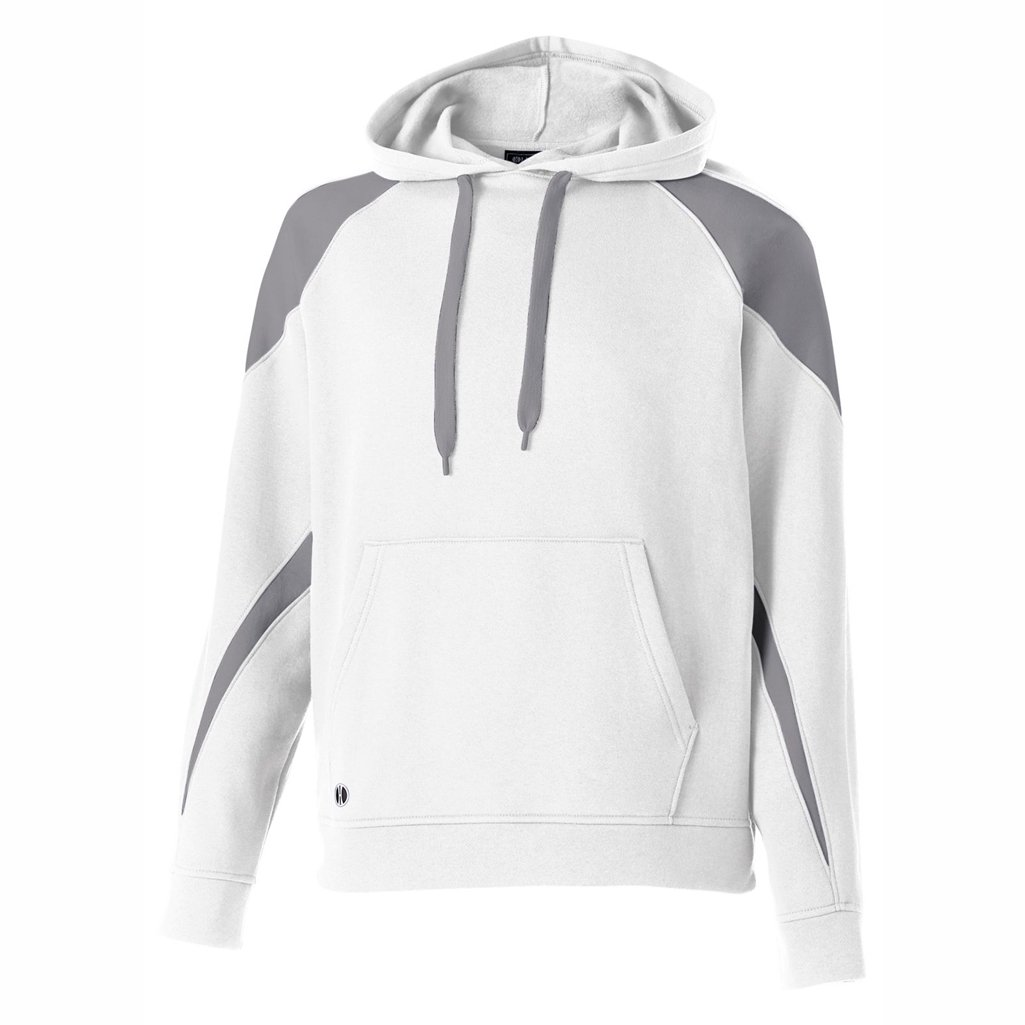 Holloway Youth Prospect Hoodie (Small, White/Charcoal Heather) by Holloway