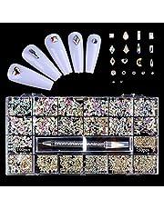 S-TROUBLE Nail Rhinestone, Nail Art Sieraden Onregelmatige Kralen Crystal Decoratie Flatback Glas 3D Strass DIY Nail Set Accessoires