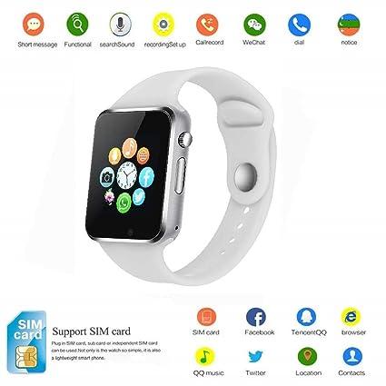 Amazon.com: Reloj inteligente de pulsera con Bluetooth y ...