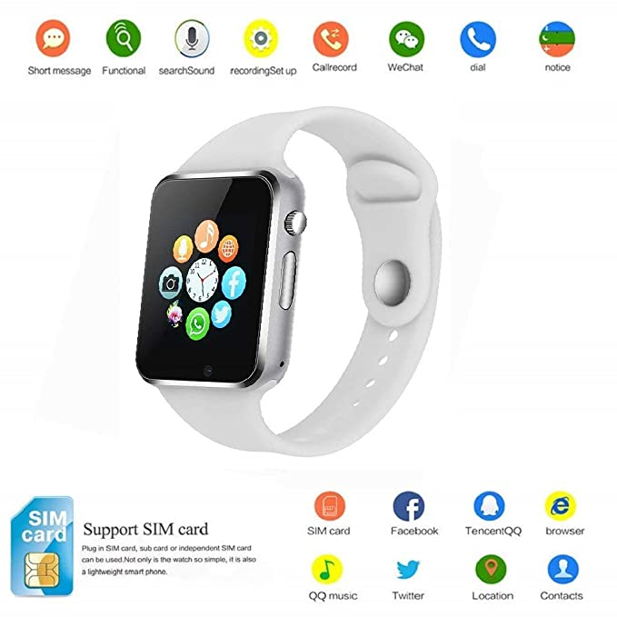 2018 Newest Smart Watch PLYSIN Bluetooth Smartwatch Unlocked Watch Cell Phone with Sim Card Slot Track Activity Watch with Pedometer Camera ...