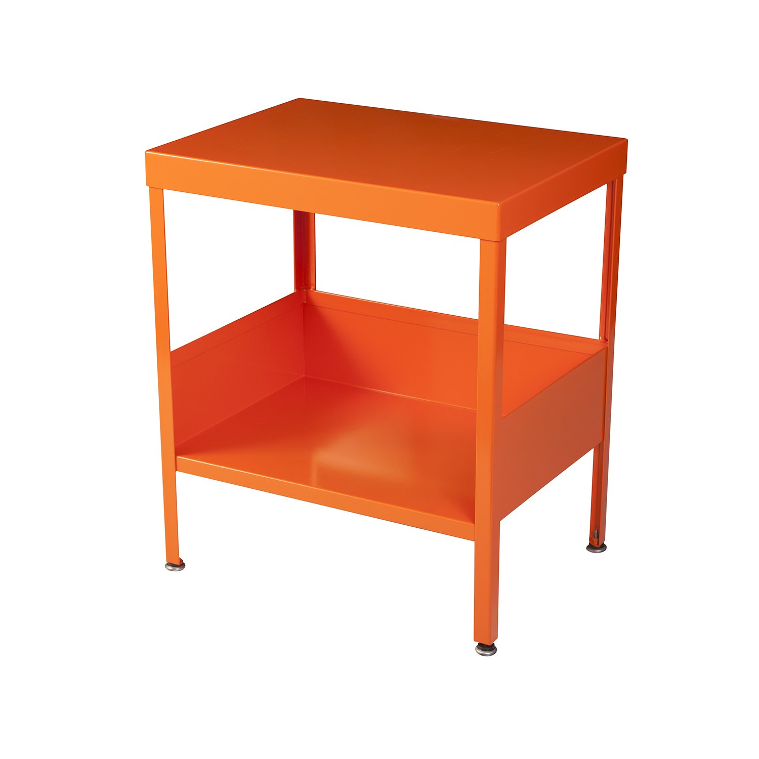 RMP Mid Century Industrial Nightstand / End Table (Orange)