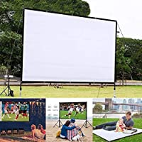 Generic 60 inch Projector Screen,16:9 HD Projection Screen Outdoor Indoor Portable Polyester Fabric Homehold Movie…