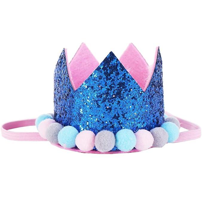 Amazon.com: Tiara para bebés y niñas, con diseño de corona ...