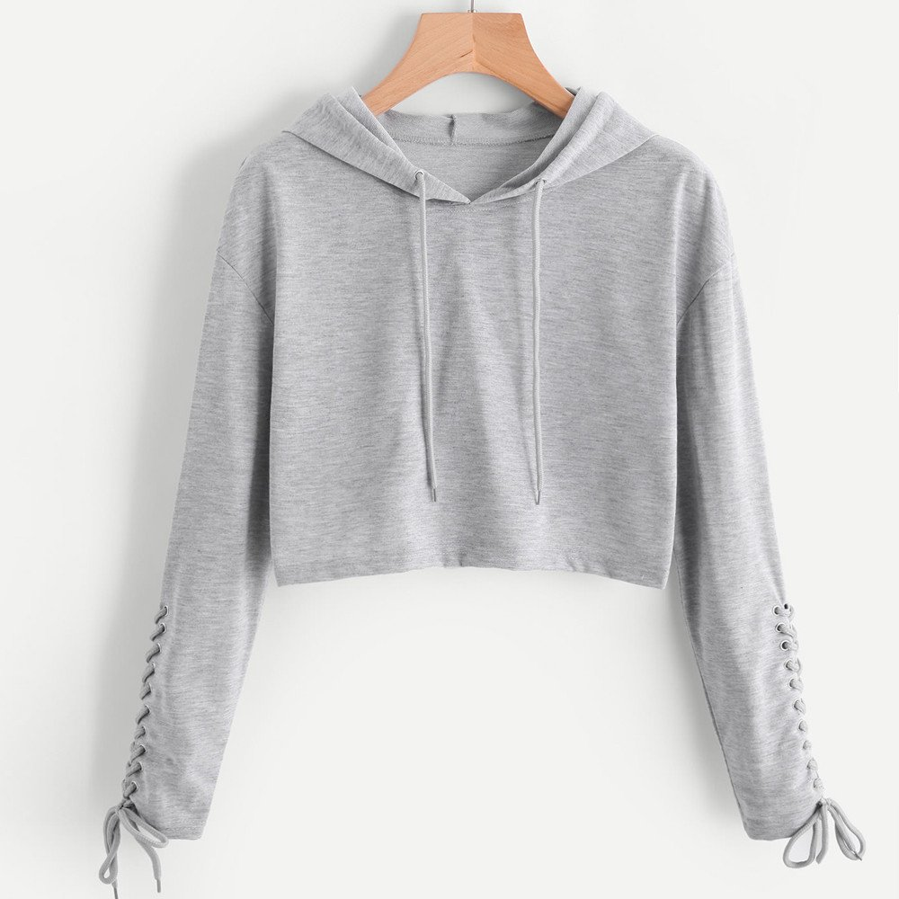 Amazon.com: Sinfu Clearance! Women Hoodie Sweatshirt Jumper Sweater Crop Top Coat Sports Pullover Tops: Clothing