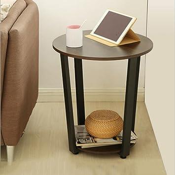 D L Rond Bois Table D Appoint Moderne Simple Table Canape Chambre