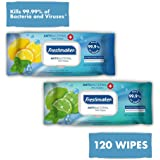 FreshMaker Antibacterial Wet Wipes Disinfectant hand cleaning Lemon & Ocean Breeze. Scent Clean Hand Health Care 240 Wipes 2 Packs