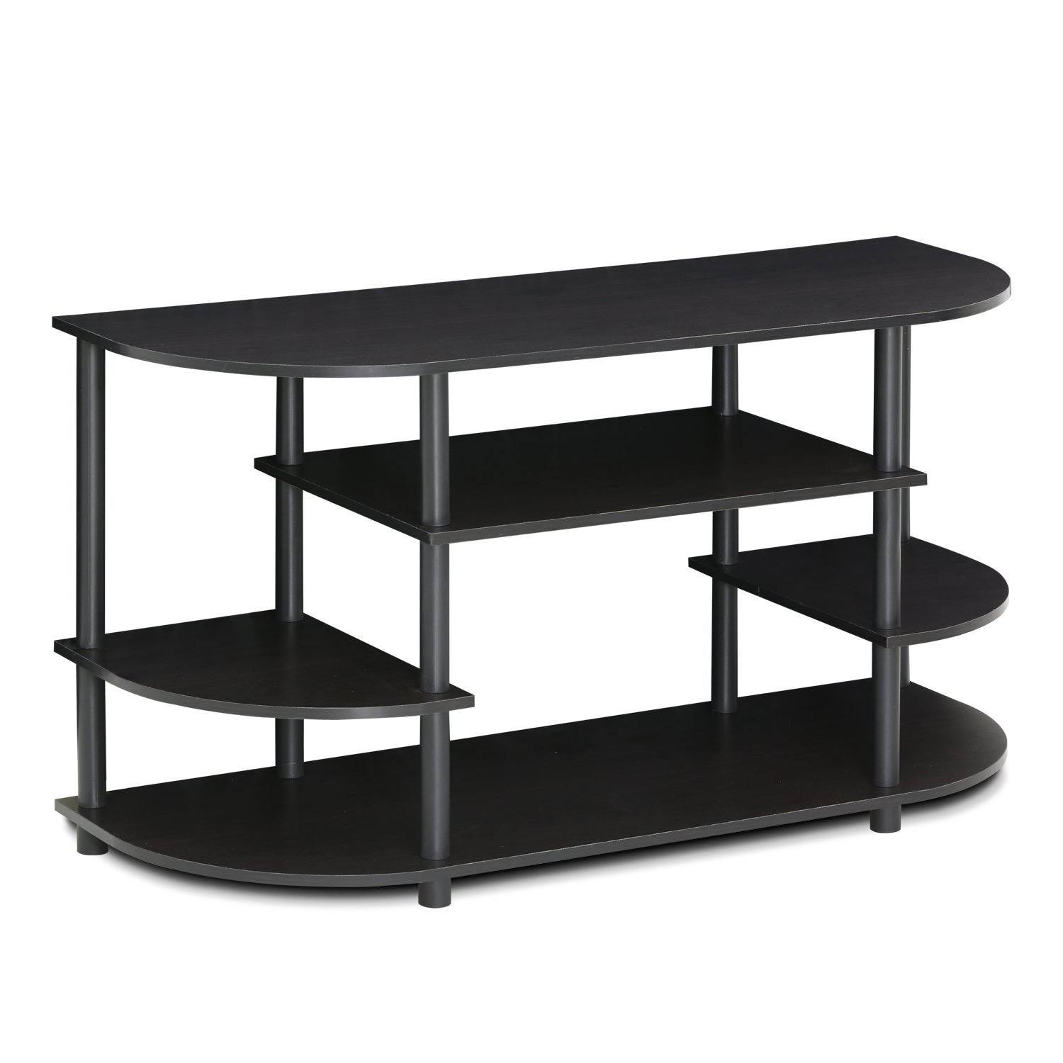 Furinno JAYA Simple Design Corner TV Stand, Espresso Black