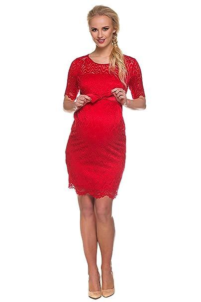 nuovo stile dcc32 519f0 Vestito premaman Carmen rosso Abbigliamento Premaman MY ...