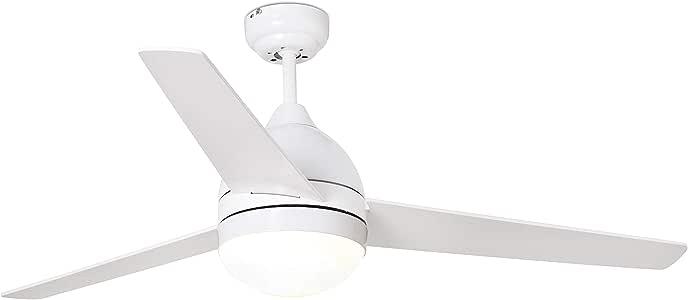 FARO BARCELONA 33752 - TABARCA Ventilador de Techo con luz Blanco Palas Reversibles: Amazon.es: Hogar