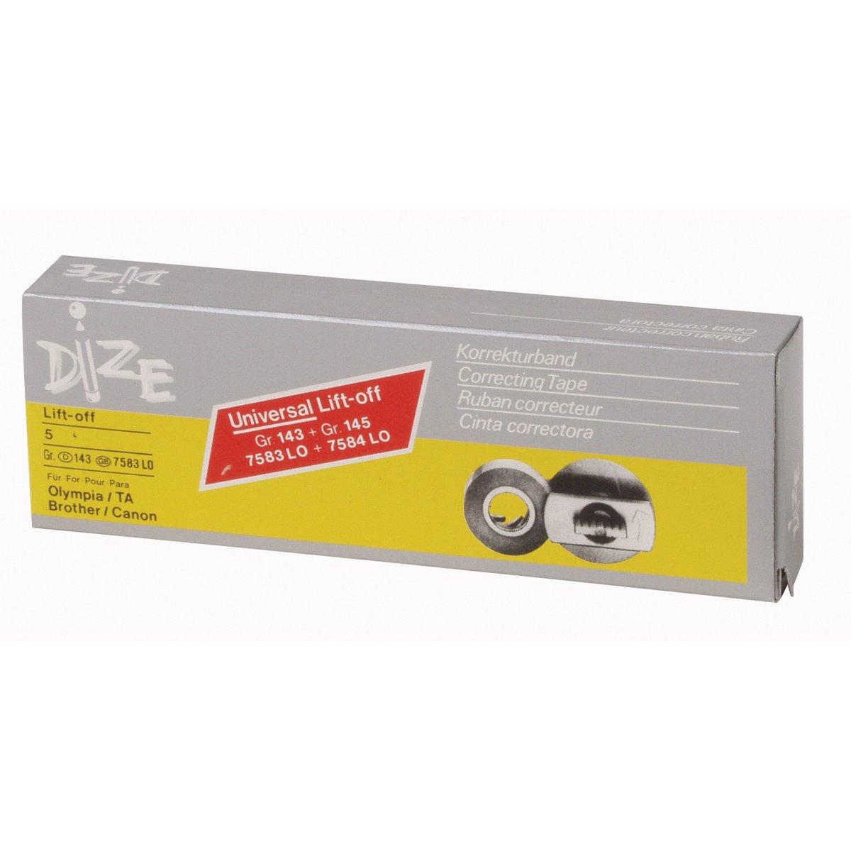 Corrección de cinta para máquinas de escribir eléctrica Olympia/TA/Brother/Conon, unidades 1 pc (5 rollos/caja).: Amazon.es: Hogar