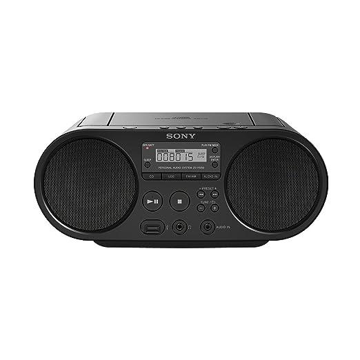 119 opinioni per Sony ZS-PS50 Stereo Portatile con Lettore CD, Radio FM, Ingresso Aux, USB, Nero