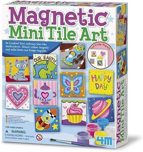 Magnetic Mini Tile Art - DIY Paint Arts & Crafts Magnet Kit for Kids