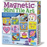 4M 4563 Magnetic Mini Tile Art - DIY Paint Arts & Crafts Magnet Kit for Kids - Fridge, Locker, Party Favors, Craft Project Gi