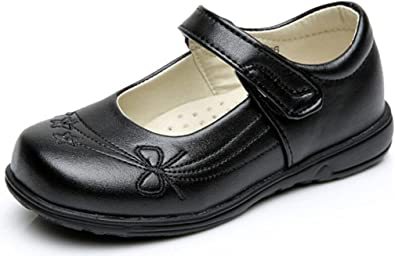 Hawkwell Girl/'s Black School Uniform shoes Dress Oxford Toddler Mary Jane Flat