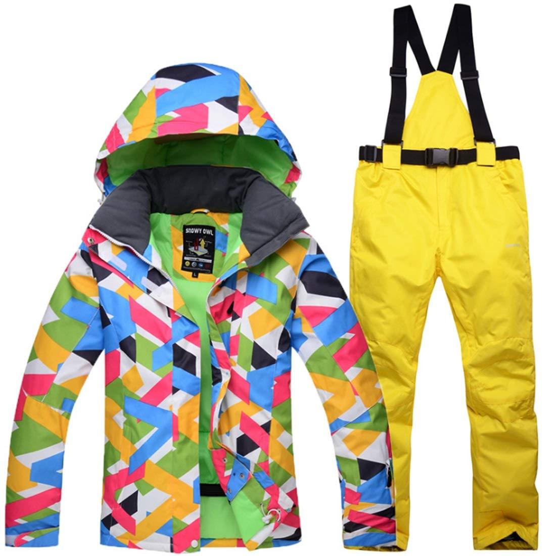 女性の暖かい防風スキースーツ防水スキーパンツ (Color : 02, サイズ : XL)  X-Large