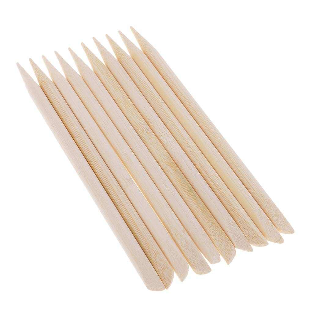 Fenteer 30 Pcs Multi-Purpose Stylus Stick 5.31x0.24 Size Wooden Scratch Paper Accessories