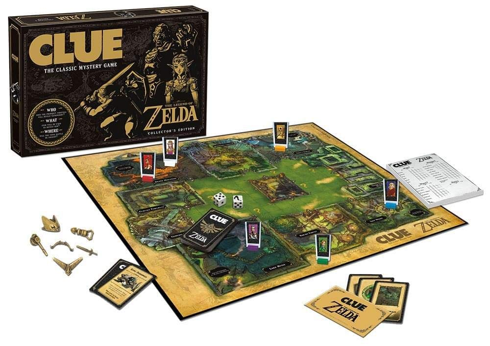 Clue The Legend of Zelda Board GameCL005-462 USAopoly The Legend of Zelda Clue Board Game, Multicolor