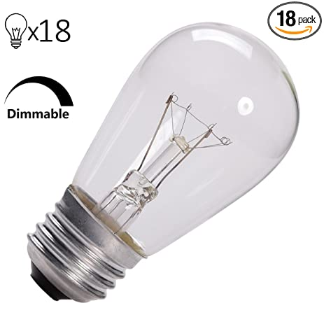 Pack of 18 commercial grade 11 watt s14 replacement incandescent pack of 18 commercial grade 11 watt s14 replacement incandescent light bulbs with e26 medium aloadofball Choice Image