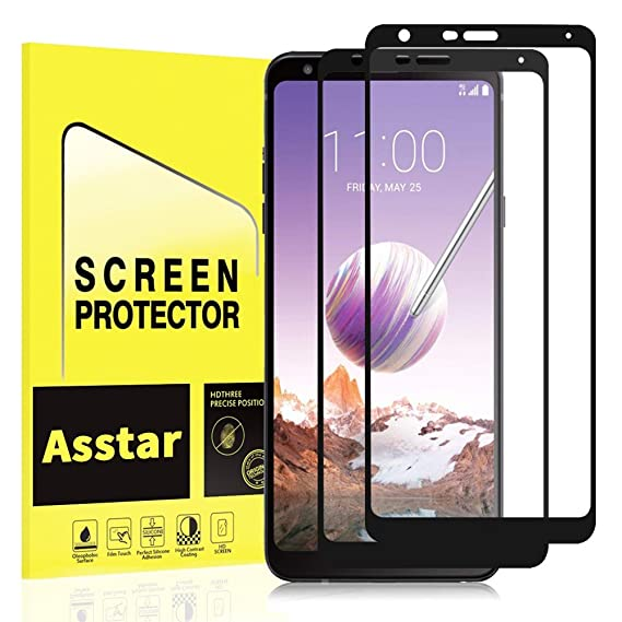 LG Stylo 4 Screen Protector Asstar 9H Hardness 2.5D Rounded Edges Crystal Clear Bubble Free Anti-Scratch Anti-Fingerprint Tempered Glass Screen Protector for LG Stylo 4 2018 2 Pack