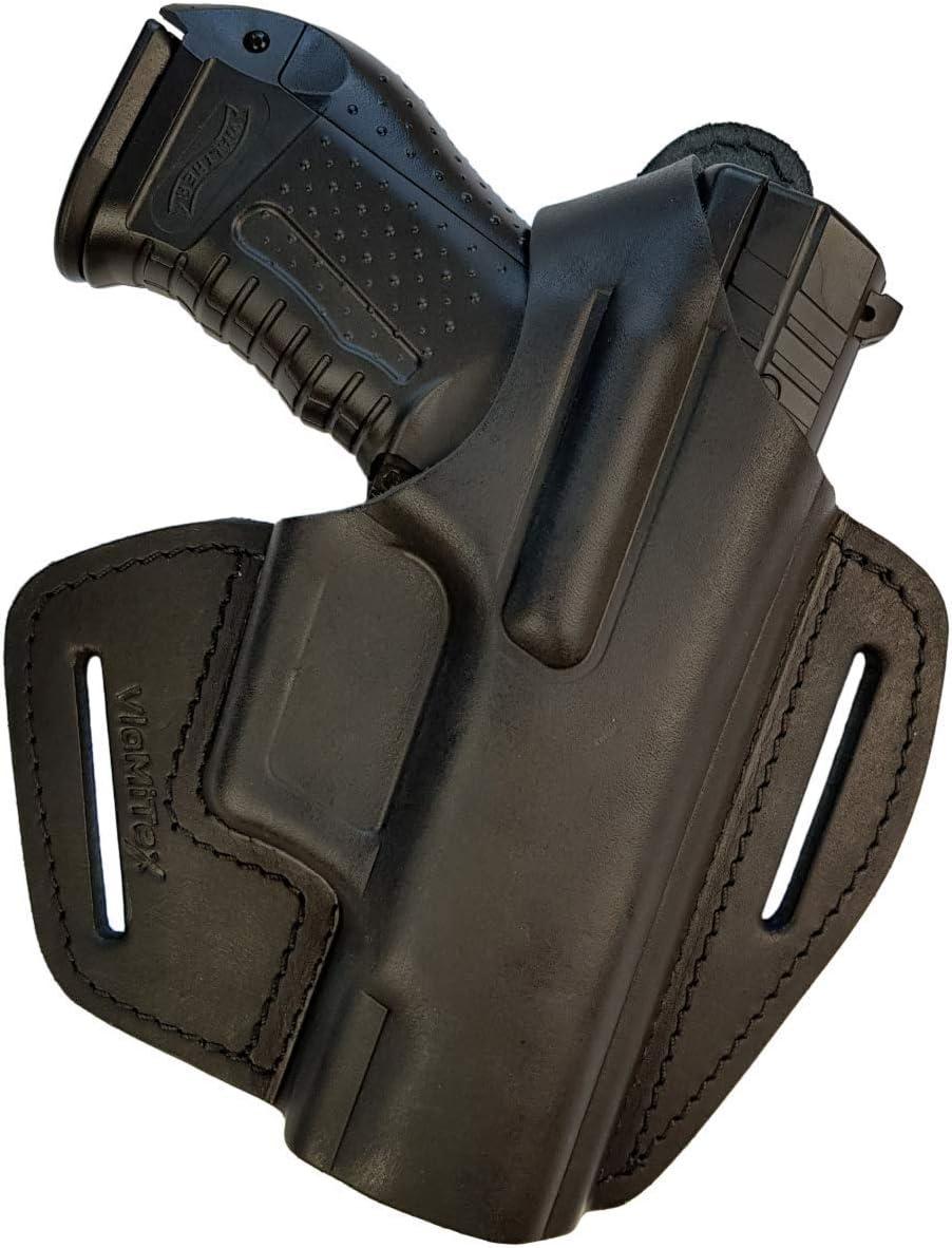 VlaMiTex B10 Funda de Pistola para cinturón, de Piel, para Walther P99 Negro