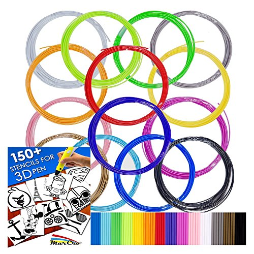 320ft Premium Quality Filaments for 3D Pen + 150 Bonus Stenicls
