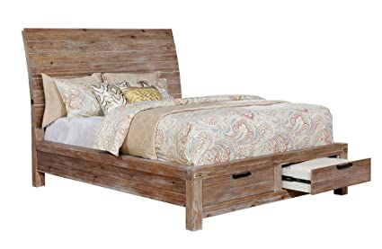 amazon com dion weathered light oak wood cal king bed by furniture rh amazon com