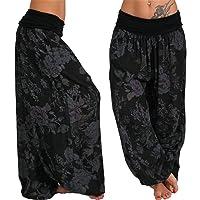 TIFENNY Lantern Sweatpants for Women Ladies Yoga Trousers Printed Band Width Loose Leg Pants Women's Casual Pants