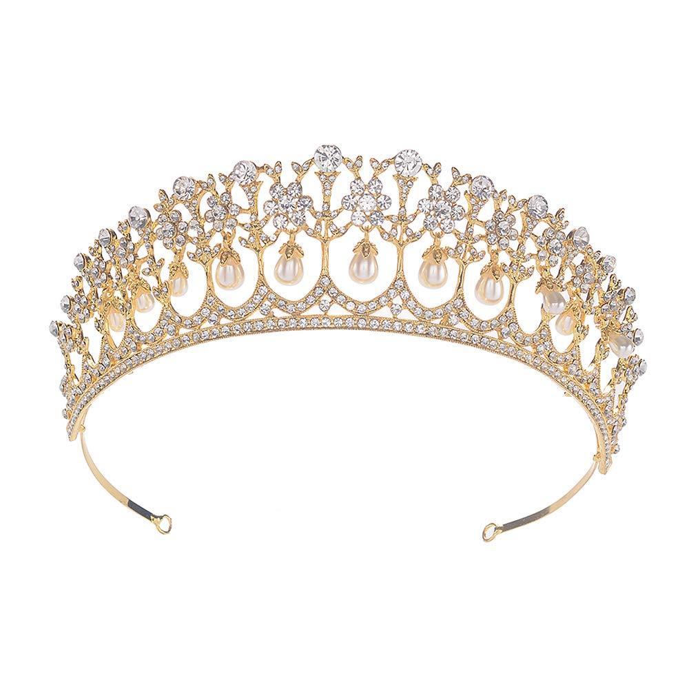 Golden wedding hair crown Bridal tiara Flower wedding tiara Bridal hair crown Wedding accessories Magaela hair crown Handmade flower crown