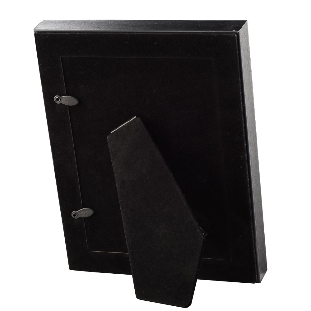 Made to Display Pictures 8x10 Without Mat for Table Top Stand and Vertical or Horizontal Wall Mounting UMICAL 8x10 Black Picture Frame Wooden Photo Frames