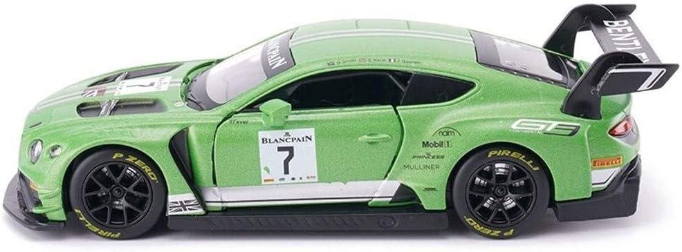 Pkjskh Adornos de carreras súper deportivo de carreras de coches de juguete modelo de coche de aleación de simulación Todoterreno uno y veinticuatro Tire simulada Volver Vehículos de puerta for niños