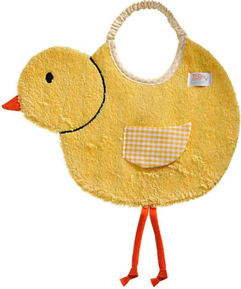 Tie: Elastic Zigozago One Size Baby Bib chick