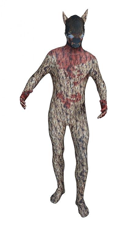 Funsuits Original FUNSUIT - Disfraz de Segunda Piel (Pegado al Cuerpo) Lobo Carnaval Halloween - Talla S / M / L / XL / XXL [S] - Varios diseños